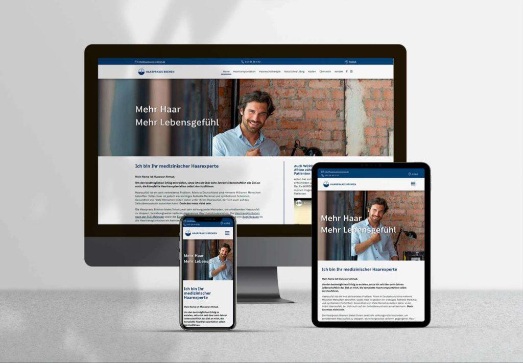Website Haarpraxis Bremen - Mockup