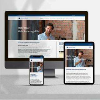 Website Haarpraxis Bremen - Vorschaubild