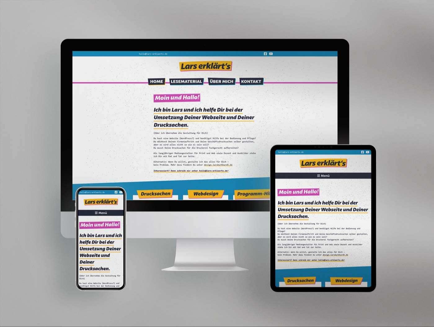 Website von lars-erklaerts.de - Mockup